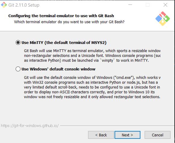 git windows console